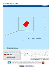 Map: Urban Extents: Nauru