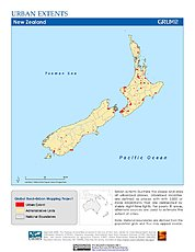 Map: Urban Extents: New Zealand