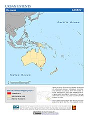Map: Urban Extents: Oceania