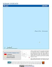 Map: Urban Extents: Pitcairn