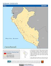 Map: Urban Extents: Peru