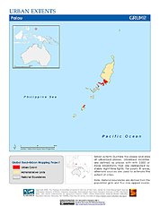 Map: Urban Extents: Palau