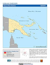 Map: Urban Extents: Papua New Guinea