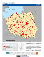 Map: Urban Extents: Poland