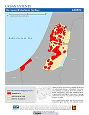 Map: Urban Extents: Occupied Palestinian Territory