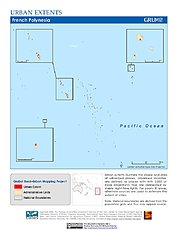 Map: Urban Extents: French Polynesia