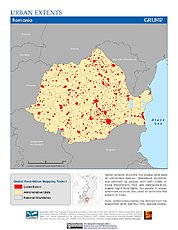 Map: Urban Extents: Romania