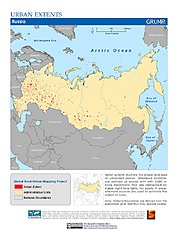 Map: Urban Extents: Russia