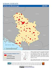 Map: Urban Extents: Serbia & Montenegro