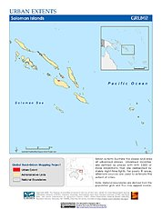 Map: Urban Extents: Solomon Islands