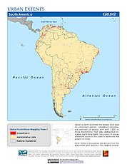Map: Urban Extents: South America