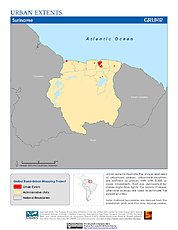 Map: Urban Extents: Suriname