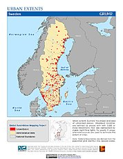 Map: Urban Extents: Sweden