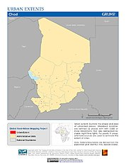 Map: Urban Extents: Chad