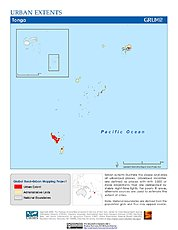 Map: Urban Extents: Tonga