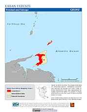 Map: Urban Extents: Trinidad & Tobago