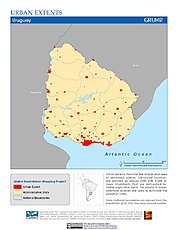 Map: Urban Extents: Uruguay