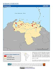 Map: Urban Extents: Venezuela