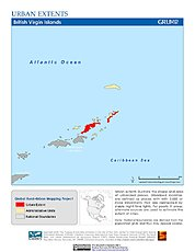 Map: Urban Extents: British Virgin Islands