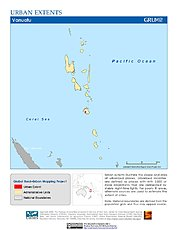 Map: Urban Extents: Vanuatu