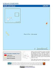 Map: Urban Extents: Wallis & Futuna Islands