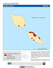 Map: Urban Extents: Samoa