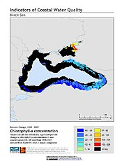Map: % Chlorophyll-a Concentration Change (1998-2007): Black Sea