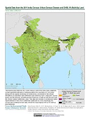 Map: India Census (2011): Urban Census Classes & GHSL 1% Built-Up Land