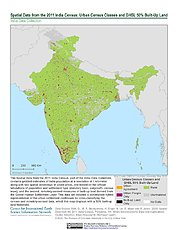 Map: India Census (2011): Urban Census Classes & GHSL 50% Built-Up Land