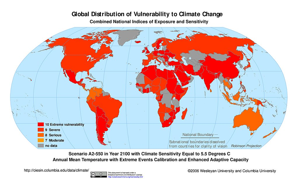 Maps » Intergovernmental Panel on Climate Change (IPCC) | SEDAC Changes In World Map on