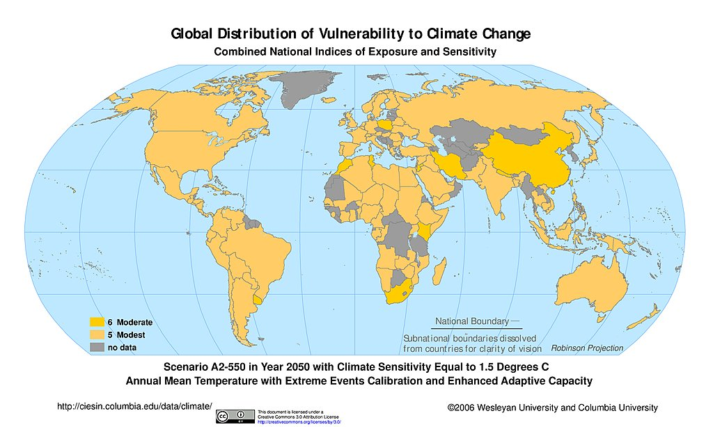 Maps synthetic assessment of global distribution of vulnerability a2 550 climate sensitivity 15c extreme events eac 2050 freerunsca Images