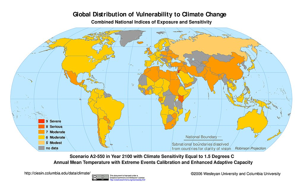 Maps Intergovernmental Panel On Climate Change IPCC SEDAC - Annual low temperatures us map