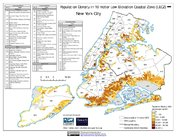 Map: New York City: Population Density in 10 meter Low Elevation Coastal Zones (LECZ)