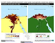 Map: Population Density & LECZ: Alexandria, Egypt