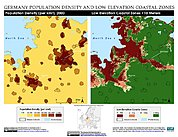 Map: Population Density & LECZ: Hamburg, Germany