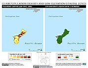 Map: Population Density & LECZ: Guam