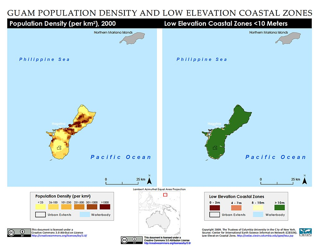 Population Density Lecz Guam