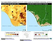 Map: Population Density & LECZ: Port Harcourt, Nigeria