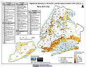 Map: Population Density in 10 m LECZ: NYC