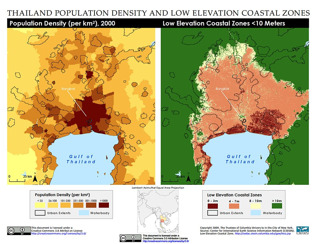 Maps Low Elevation Coastal Zone LECZ SEDAC - Map of egypt elevation