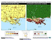 Map: Population Density & LECZ: New Orleans, LA, U.S.A.