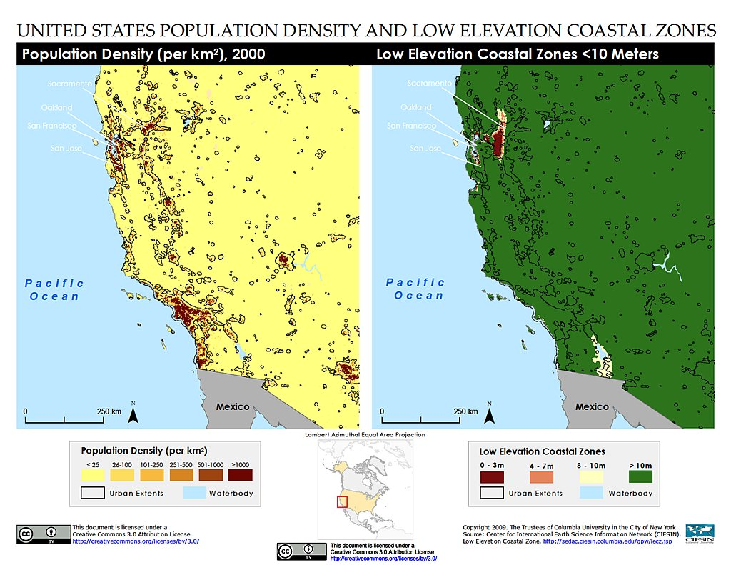 United States Map By Population.Map Gallery Sedac