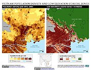 Map: Population Density & LECZ: Ho Chi Minh, Vietnam