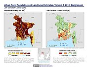 Map: Population & Land Area Estimates (2010): Bangladesh