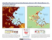 Map: Population & Land Area Estimates (2010): Greater Boston