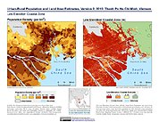 Map: Population & Land Area Estimates (2010): Ho Chi Minh, Vietnam