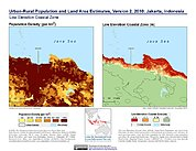 Map: Population & Land Area Estimates (2010): Jakarta, Indonesia