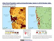 Map: Population & Land Area Estimates (2010): Mumbai, India