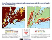 Map: Population & Land Area Estimates (2010): Greater NYC