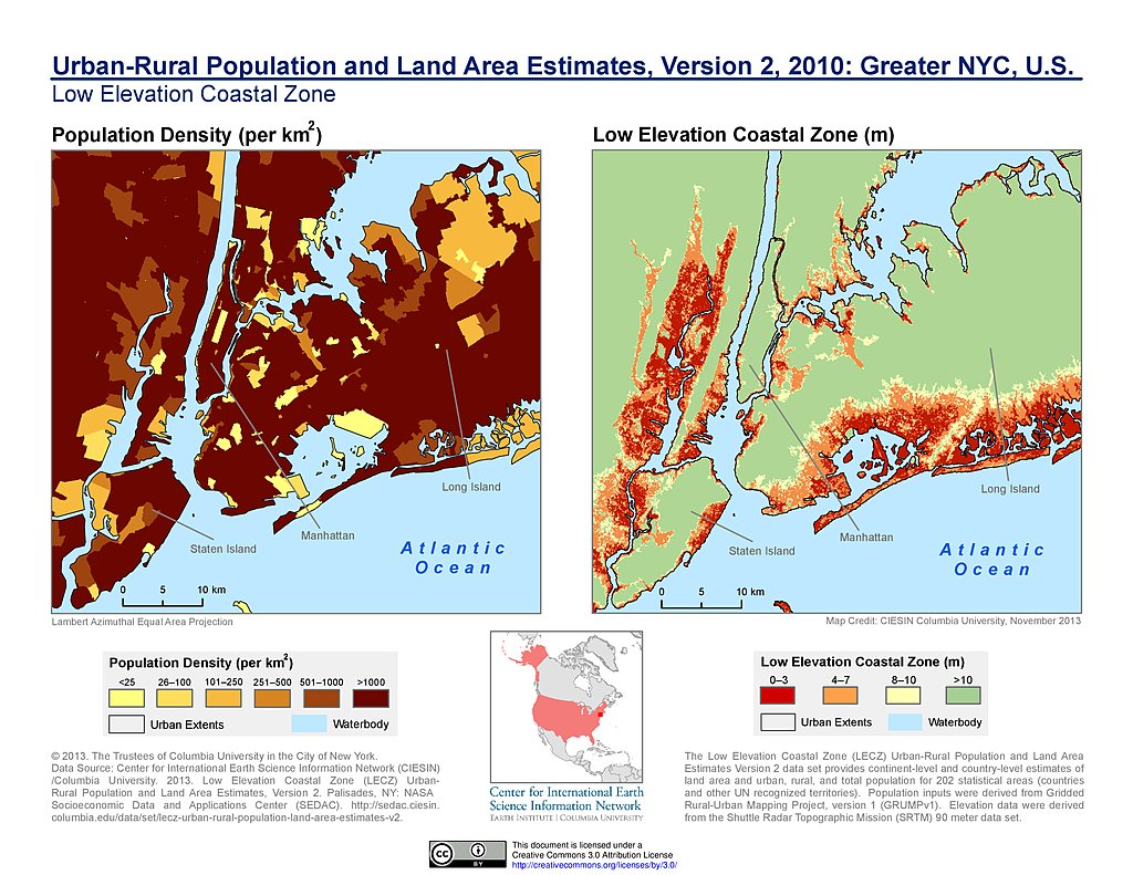 Map Of Greater New York City Area.Maps Urban Rural Population And Land Area Estimates V2 Sedac